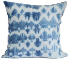 Kussen True blue shibori cushion 3 - Lemonwise