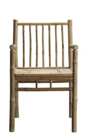 Tine K Home bamboe eetkamer stoel met leuning