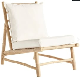 TineKhome Bamboo lounge chair with cushions W55x87xH45/80cm