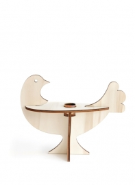 Studio Roof - candlestick bird - white