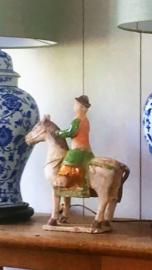 Beeld Horse & rider - Asian Mix