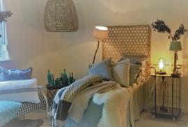 Hanenmand lamp bamboe gevlochten XL  Manggis