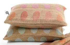 ML fabrics  - pillow-  polka - pink