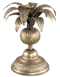 PTMD kandelaar Iron brass candle holder palm tree