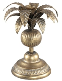 PTMD Iron brass candle holder palm tree
