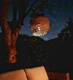 Hanenmand lamp bamboe strook  baleinen Medium Manggis