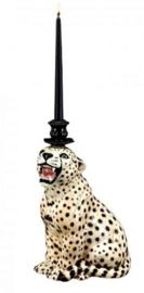 Kandelaar Cheetah H34cm