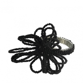 Napkin rings prancing black