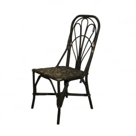 Dining chair - black distressed - Cofur