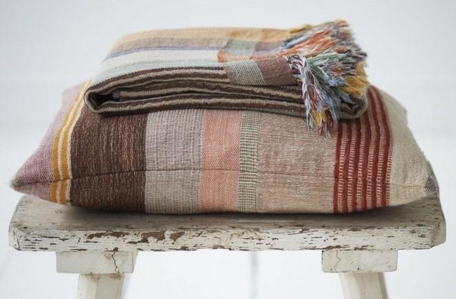 Multi Stripe Orange Kussenhoes - ML Fabrics