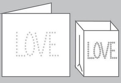 Wens kaart met lichtzakje - Love - Tindra