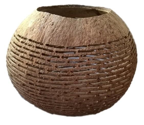 Theelicht Kokosnoot stripe - Manggis