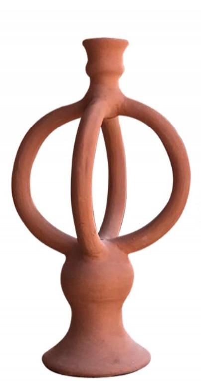 Honoré kandelaar Keramiek mat terracotta L
