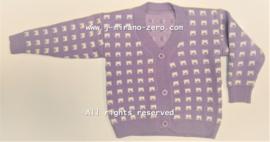 ZMCN088-1 vest LILA  (5pcs)