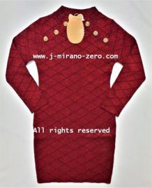 FRY3017-1 jurk bordeaux  (6pcs)