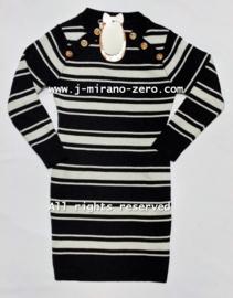 FRY3046 jurk zwart (6pcs)