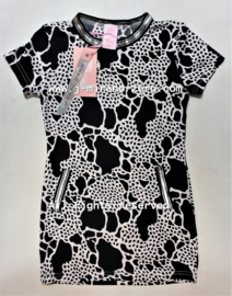 ZM5117 jurk zwart/wit (7pcs)