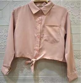 FRHS0189 blouse  ROZE   ( 6pcs)