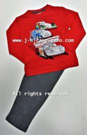FRHM2255 CARS pyama  rood  (4pcs)