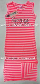 ZM5123 maxi-jurk neon roze (6pcs)