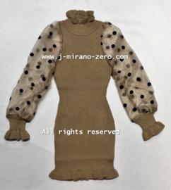 FRY3056 jurk zand (6pcs)