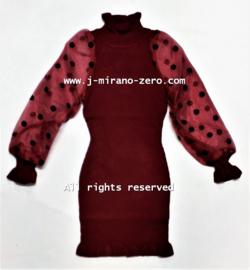 FRY3056 jurk bordeaux (6pcs)