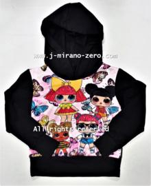FRIT1813 hoodie zwart   (8pcs)