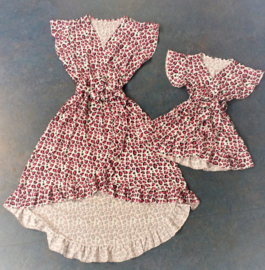FRart3909-1 Damesjurk Panter roze ( 6pcs)