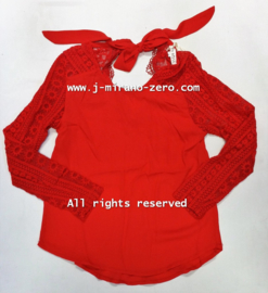 FRNS9920 blouse rood (6pcs)