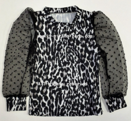 FRKU5319 blouse PANTER/zwart-wit (6pcs)