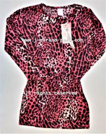 ZM5077-1 jurk roze  (6pcs)