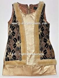 FRCH325 jurk  GOLD (7pcs)