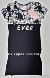 ZM5118 maxi jurk zwart/wit (7pcs)