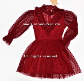 FRY019 jurk bordeaux  (6pcs)