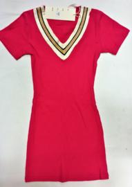 FRNS9007 jurk rose red (6pcs)