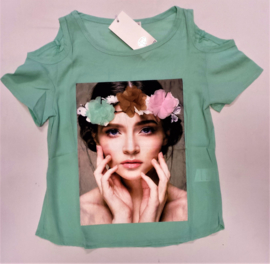 FRJA6850 shirt mint/groen (6pcs)