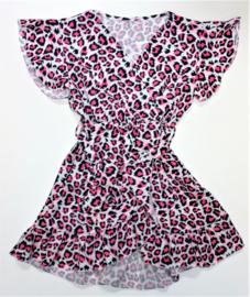 FRart3909 jurkje panter roze (6pcs)