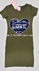 ZM3983 maxi-jurk  Armygreen (6pcs) nog enkele pakketten