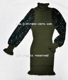 FRY3068 jurk armygreen (6pcs)