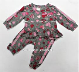 ZMB128 set roze hearts (8pcs)