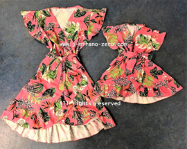 FRart4909  Damesjurk Sunnyflower roze (6pcs)