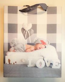 kado-Tasjes GRIJS baby  (5pcs)
