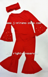 FRCH258 3 delige set  rood(6pcs)