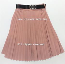 FRKU11139 plise rok zacht roze  (6pcs)