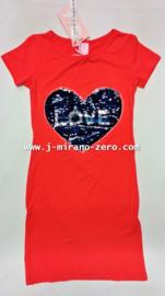 ZM3983 maxi-jurk koraal (6pcs)