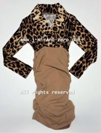 FRCH095 jurk ZAND  (6pcs)