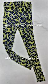 Celine floral legging geel/navy (7pcs)
