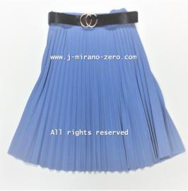 FRKU11139 plise rok blauw (6pcs) weer binnen
