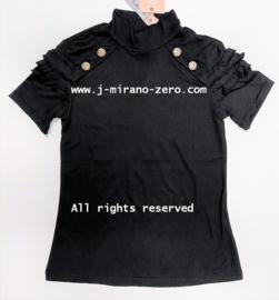 ZM5267-1 shirt  ZWART   (7pcs)