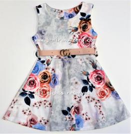 FRart5351 jurk OFF WHITE  (6pcs)weer binnen